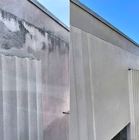 Power washing before/after