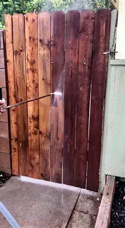 Power washing fence