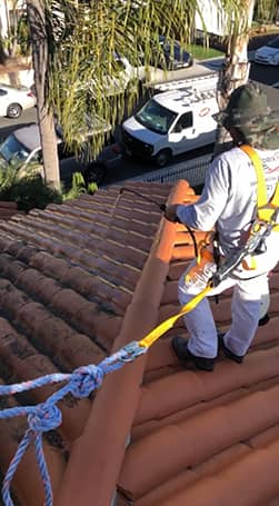 Power washing roof